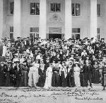 National American Woman Suffrage Association meeting in Portland, Oregon; signed by Abigail Scott Duniway and Susan B. Anthony; July 1, 1905, OHS Research Library, OrHi 59438