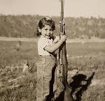 Kathy as a young girl living on the reservation, just before Termination. Courtesy of Kathleen Hill.
