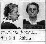 Marie Equi mugshot, an Oregonian convicted under the Espionage and Sedition Acts, San Quentin State Penitentiary, courtesy California State Archives