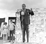 Governor Tom McCall at a 1970 Earth Day Celebration, 1970. OHS Research Library, Org. Lot 1386