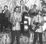 "Warren Bracken (piano), Johny ""Lightning"" Cleveland (drums), Long Goodie (bass), George Lawson (sax), and Lloyd Allen (guitar), courtesy Lorna Bracken Baxter"
