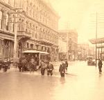 A2004-002.638 : Flooded scene on SW 1st between Stark and Oak, 12/31/1894. City of Portland,  City Auditor, Archives & Records Management
