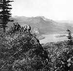 Hikers on Katani Rock. OHS Research Library, Kiser Photo Co. photographs, Org. Lot 140; b3.f19; OrHi 67583, bb000194
