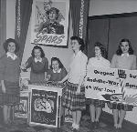 Students at Marylhurst College organized a war bond drive in January 1944.