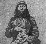 Photograph of Chief Paulina was likely taken in 1865 when Paulina was living on the Klamath Reservation. The Sunday Oregonian., July 22, 1900, Page 8, Image 8. Image provided by University of Oregon Libraries