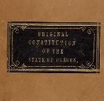 Cover of the 1857 Oregon Constitution