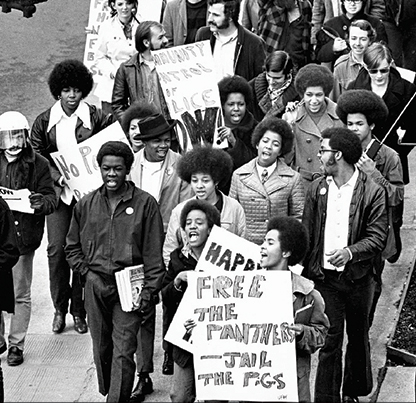 Demonstration calling for police reform, 1970; OHS Research Library, Oregonian collection, bb007217