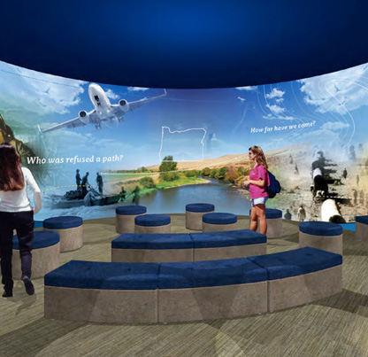 180 degree immersive theater introduces Experience Oregon exhibit