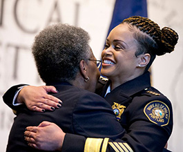 Against the backdrop of an exhibit featuring Oregon's civil rights history at the Oregon Historical Society, Portand's new Chief of Police, Danielle Outlaw, was formally sworn in. January 22, 2018. Beth Nakamura, The Oregonian/OregonLive