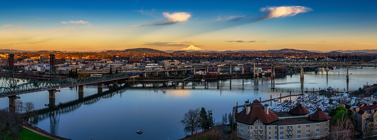 Portland Sunset 2, 2020. Copyright James Foley.