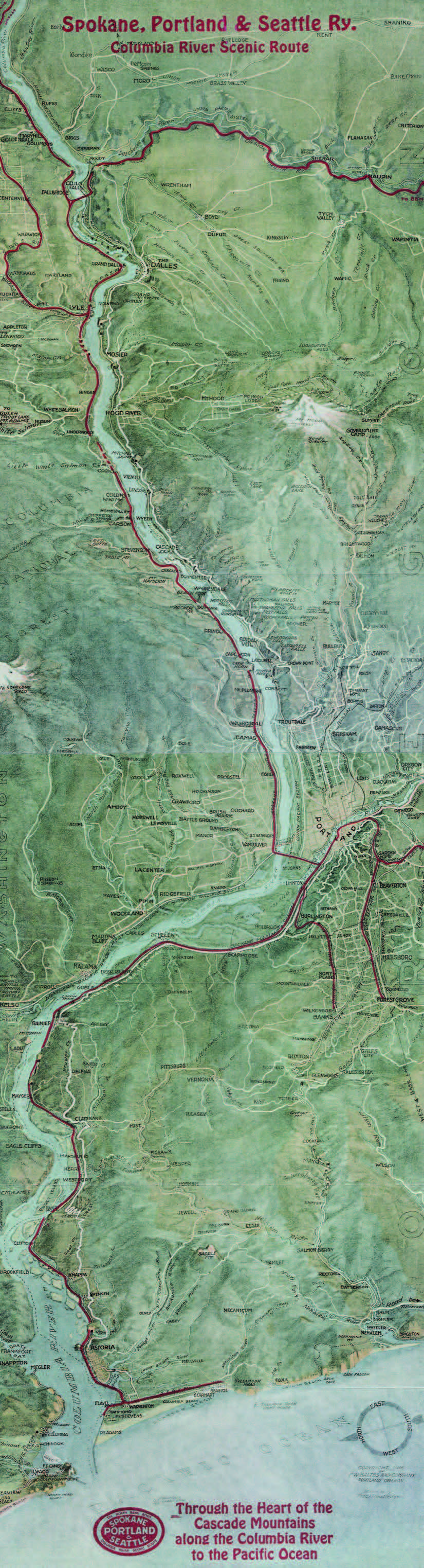 Spokane, Portland, and Seattle Railway map. OHS Research Library
