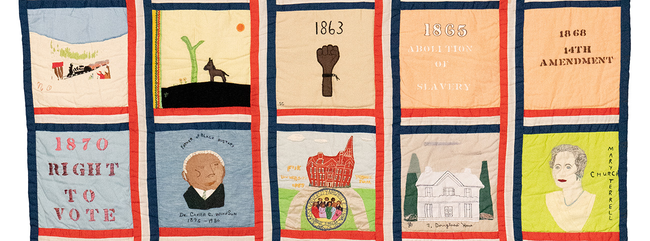 Afro-American Heritage Bicentennial Commemorative Quilt. Image courtesy Portland Textile Month