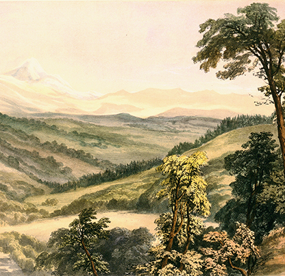 Valley of the Willamette River 1845 HJ Warre OrHi 49030