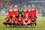 The Thorns posed before their home debut in 2013. Photographer Craig Mitchelldyer, Courtesy of Portland Thorns FC