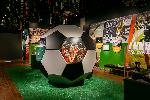 A giant soccer ball greets visitors in We are the Rose City! Photograph by Andrea Lonas Photography