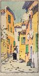 A Street of Villefranche, 1925-27. Color block print by Norma Bassett Hall