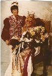 """I made this costume for the Imperial Sovereign Court of Portland Coronation held at the Paramount Theatre in October 1972. I was crowned Rose Empress XV that night, wearing this costume. That's how I became Darcelle XV. – Walter Cole aka Darcelle XV"