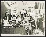 Schoolchildren protesting treatment of African American teachers in Norfolk, Virginia, June 1939. Courtesy Library of Congress, LC-USZ62-61026