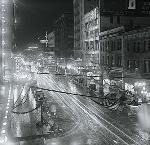Broadway at night during Portland Rose Festival, ca. 1916. OHS Research Library, Portland General Electric Photograph Collection; Org. Lot 151; Box 8; PGE 138-50