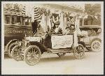 Photograph of man driving Mary G. Fendall, left, and Margaret Whittemore, right, in Pendleton, Sept 23, 1916, Library of Congress, National Woman's Party Records, Group I, Container I:159, Folder: Campaign of 1916