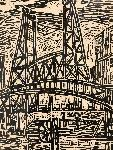 """Steel Bridge"" Albert Patecky. 1960"