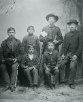 WL Bright and Chemawa students, 1886, OHS 0173G006