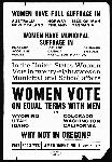 Woman Suffrage Handbill, produced by the Oregon chapter of the College Equal Suffrage League, OHS Research Library, Mss 1534