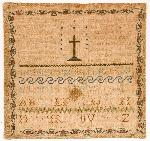 Sampler by Christiana Coad, 1816. 69-19
