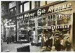 Exterior of the Fred Meyer store on SW 6th Avenue as it appeared in 1935. Coll 199