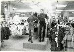 Hawthorne store mannequin store display in clothing department, circa 1986. Coll 199 b13.f9