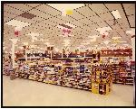 Beaverton Fred Meyer grocery aisles decorated for Grand Opening Day. Coll 199 b15f2