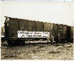 Train transporting tires for Fred Meyer 1938