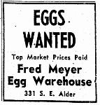 Ad offering to buy local farmers' eggs
