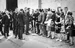 President John F. Kennedy in received at Astoria airport, 9-28-1963. Frank Sterrett, The Oregonian. OrHi 13198 bb000827