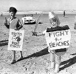 Fight for Beaches Ralley Measure 6, Peter Frost, Cannon Beach, 1968. 207-A OrHI 91802