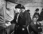 Photo of Abigail Scott Duniway voting for first time, May 5, 1913, OHS Research Library, OrHi 4601a