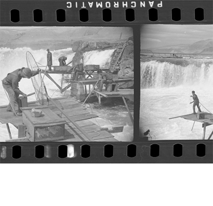 Celilo Falls, ca. 1940. Vreeland Collection, Acc. 24317