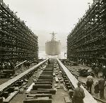 Launching of the Thomas Condon, 1943. Bean Collection, Temp Loc 6, Box 2.