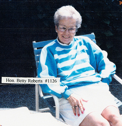 Photograph of Betty Roberts taken by Clark Hansen, 1994. OHS Research Library, SR1126, Image01