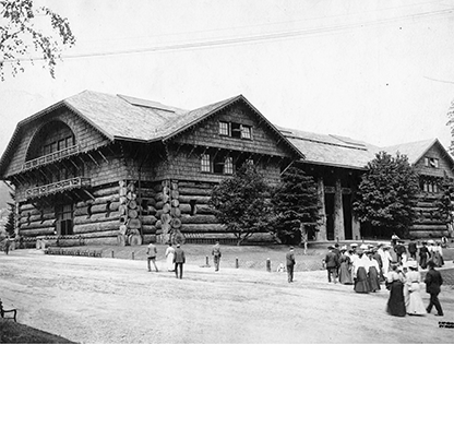 Forestry Building, Lewis and Clark Centennial Exposition, 1905. Kiser Photo Co. photographs, Org. Lot 140, box 6, folder 25; OrHi 39201, bb000442