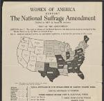 Women of America Support the National Suffrage Amendment (flyer), OHS Research Library, Women collection, circa 1899-1950; Mss 1534; Box 1; Folder 1