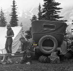 Car Camping: Rainier trip, 1928. Marshall Family Collection, Org Lot 311, Box 10, No. 101